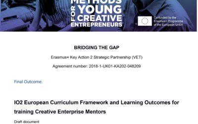 BtG – European Curriculum Framework and Learning Outcomes for training Creative Enterprise Mentors