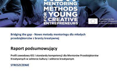 BtG – profil zawodowy istandardy kompetencji mentora wsektorze kultury ikreatywnym (raport podsumowujący)